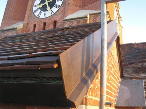 Sanierung Seitenturm SW DachSeitenturm