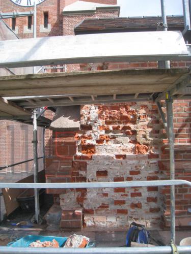 Sanierung Seitenturm SW Sanierung