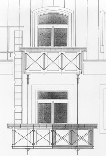 Breisacher Str. 17  Plan Detail Balkon