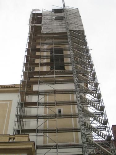 St. Korbinian Eingeruesteter Turm
