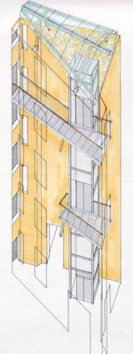 Rosenheimer Strasse 62+64 Isometrie Innenhof