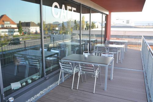 Gewerbepark Cafe Terrasse