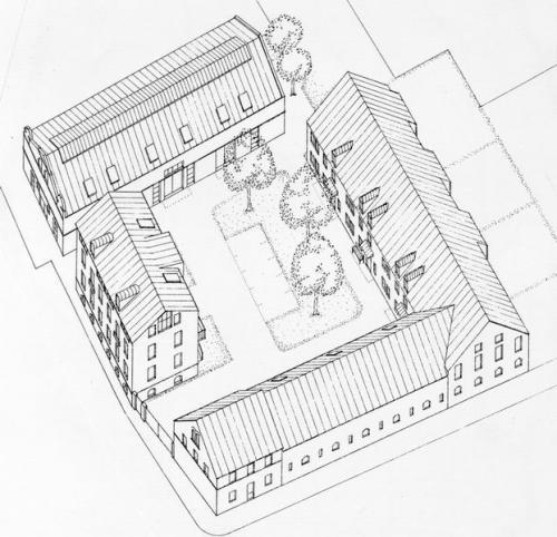 Neue Nutzung für traditionelle Hofformen, Halle