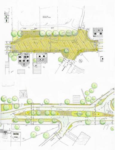 Freiflächengestaltung mit Verkehrsberuhigung