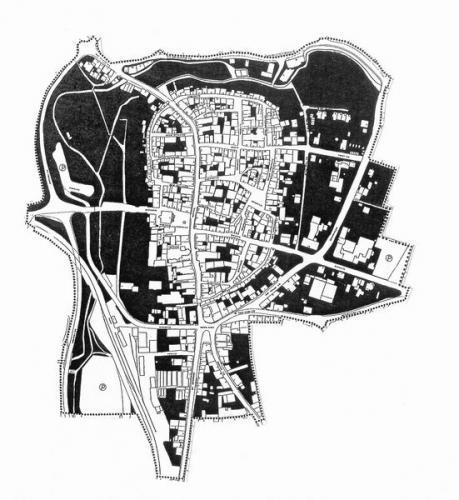 Gebäude- und Freiflächen-Struktur der Altstadt