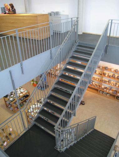 Museum Mitterteich Neubau Stahltreppe